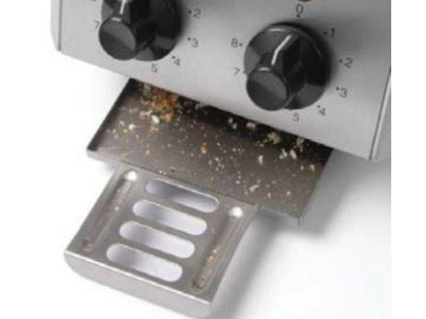 Hendi Sandwich maker HENDI 261 163 - SS - 2 Klems + Timer & Control lamp - 30x20x (H) 22,3cm - 1200W
