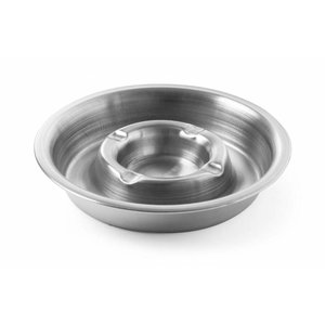 Hendi Stainless steel ashtray | With Fire Ridge | Ø160x (H) 30mm
