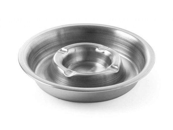 Hendi Stainless steel ashtray | With Fire Ridge | Ø160x (H) 30mm