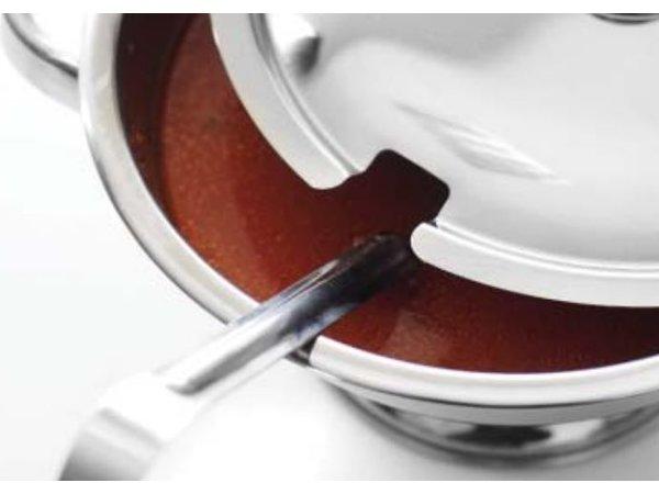 Hendi Soepterrine RVS | 3 Liter | Met Deksel | Ø245x(H)130mm