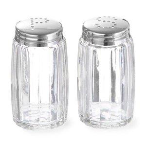 Hendi Pfeffer und Salzstreuer Glas   Mit Kappe aus Edelstahl