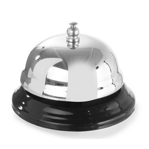 Hendi Reception bell verchromt - mit Metallsockel 85x60 mm