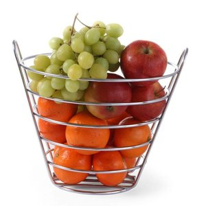 Hendi Fruit Basket - Draht Eisen-Chrom - 215x (H) 205mm