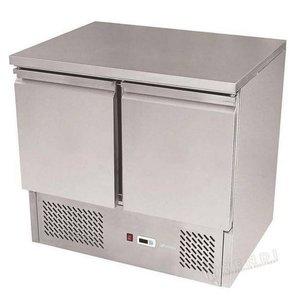 Hendi Saladette RVS - Machine Onder - 2 Deurs - 900x700x(h)850 mm