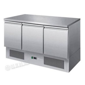 Hendi Saladette SS - Machine Vice - 3 Doors - 1365x700x (h) 850 mm