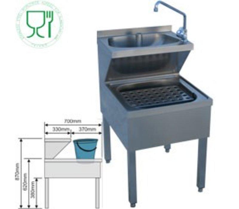 Diamond Edelstahl Hand sinken Combined   Gießt Sink   PRO   500x700x (H) 620/870 mm
