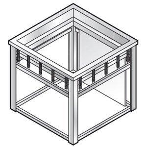 XXLselect Dienbladenlift | voor 500x500mm dienbladen | 640x600x(h)580mm