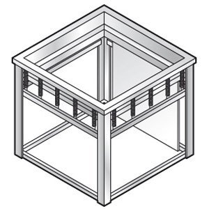 XXLselect Tray Aufzug | für 500x500mm Schalen | 640x600x (H) 580mm