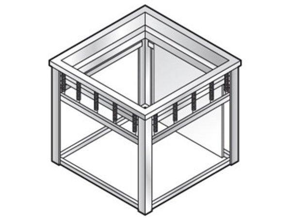 Combisteel Tray Aufzug   für 500x500mm Schalen   640x600x (H) 580mm