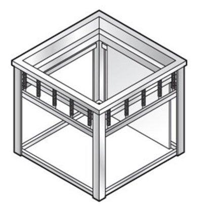 XXLselect Dienbladenlift | voor 530x370mm dienbladen | 660x460x(h)580mm