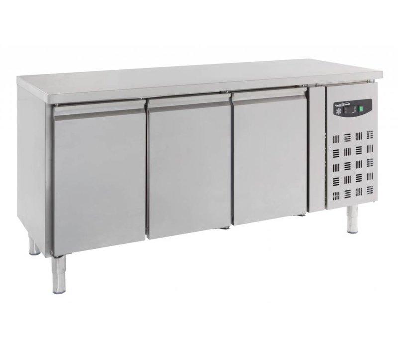 Combisteel Freeze-Workbench SS - 3 Doors - 402 Liter - 180x70x (h) 86cm