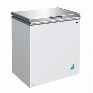 XXLselect Stainless steel Freezer - 148 Litres - 62x42x (h) 63cm