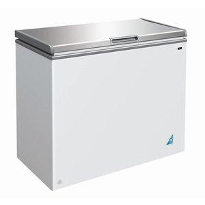 XXLselect Stainless steel Freezer - 201 Litres - 95x55x (h) 81cm