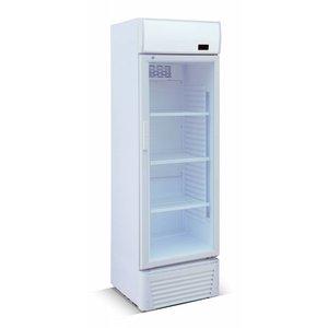 XXLselect Koelkast 310 liter - glazen deur - Enkel - 60x59x(h)190cm