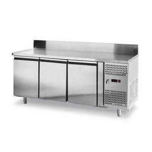 Hendi Cool Workbench with Splash Ridge - 3 Doors - Machine Right - 1795x700x (H) 850mm