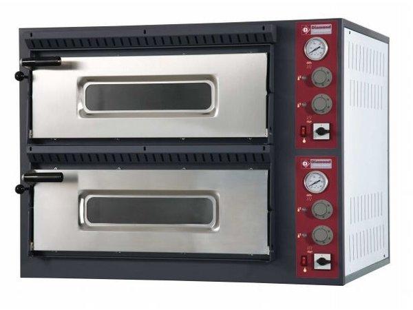Diamond Pizza-Ofen Ladungsdoppel | 2 x 4 Pizzen Ø33cm | 400V | 9,4kW | 980x930x (H) 750mm