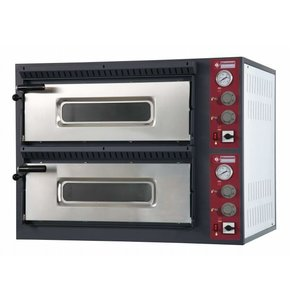 Diamond Pizza Oven Elektrisch Dubbel | 2x 6 Pizza's Ø33cm | 14,4kW | 980x1210x(H)750mm