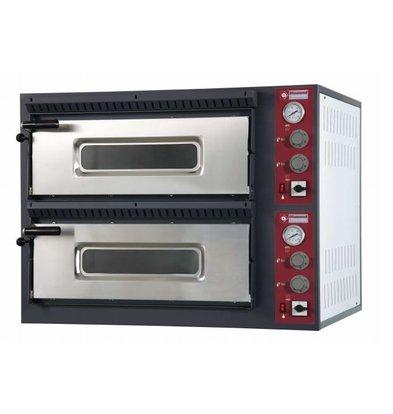 Diamond Pizza Oven Elektrisch Dubbel | 2x 6 Pizza's Ø33cm | 14,4kW | 980x1210x(H)750mm