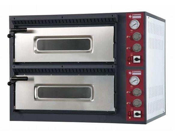 Diamond Pizza Oven Electric Double | 2 x 6 pizzas Ø33cm | 14,4kW | 980x1210x (H) 750mm