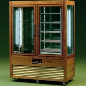 Diamond Refrigerated display case - 1000 Liter - 5 grids - 6 rotating shelves - 134x70x (h) 183cm