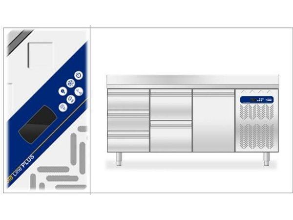 Diamond Kühle Workbench 80cm tief Graniette Blatt - 2 Türen - 1514x800x (H) 900 mm