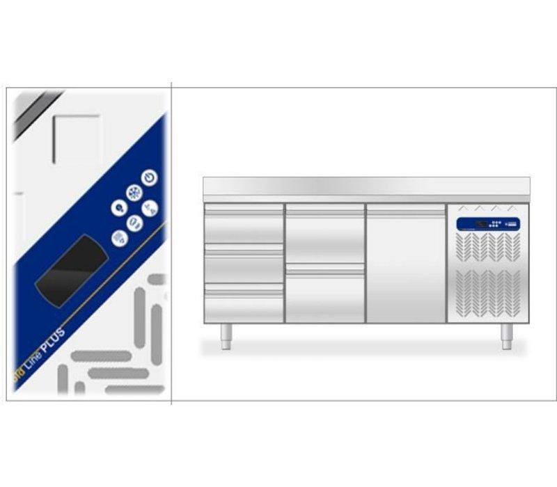 Diamond Koelwerkbank 80cm diep - 2 Deurs - 1514x800x(h)900mm