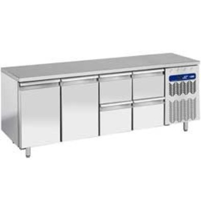 Diamond Cool Workbench - 4 drawers + 2 doors - 225x70x (h) 90cm - 550 Liter