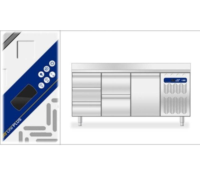 Diamond Cool Workbench - 4 drawers + 2 doors - 225x70x (h) 90cm - 550 Liter