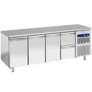 Diamond Koelwerkbank - 2 laden + 3 deurs - 225x70x(h)90cm - 550 Liter