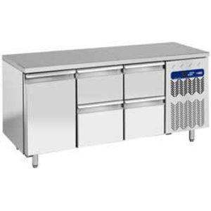 Diamond Cool Workbench - 4 drawers + 1 door - 181x70x (h) 88cm - 405 liters - 1 / 1GN