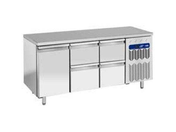 Diamond Cool Workbench - 4 drawers + 1 door - 181x70x (h) 88cm - 405 liters - 1 / 1GN