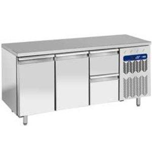 Diamond Kühle Workbench - 2 Schubladen + 2 Türen - 181x70x (h) 88cm - 405 Liter - 1/1 GN