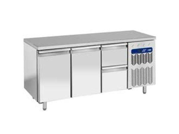 Diamond Cool Workbench - 2 drawers + 2 doors - 181x70x (h) 88cm - 405 liters - 1 / 1GN