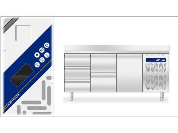 Diamond Koelwerkbank - 4 laden - 136x70x(h)88/90cm - 1/1GN - 260 Liter