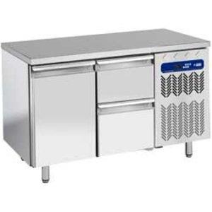 Diamond Cool Workbench - 2 drawers + 1 door - 136x70x (h) 88 / 90cm - 1 / 1GN - 260 Liter