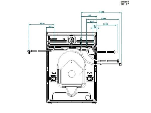 Diamond Hotel Trockner 7 kg Edelstahl - 400v - 595x595x (H) 850mm