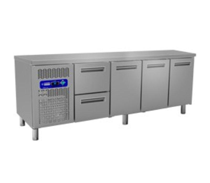 Diamond Cool Workbench - 2 drawers + 3 doors - 225x70x (h) 88 / 90cm - 550 Liter