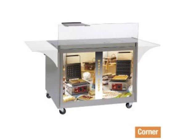 Diamond Mobile Display / Arbeits Möbel Waffeln und Crepes - 1000x600x (H) 825mm