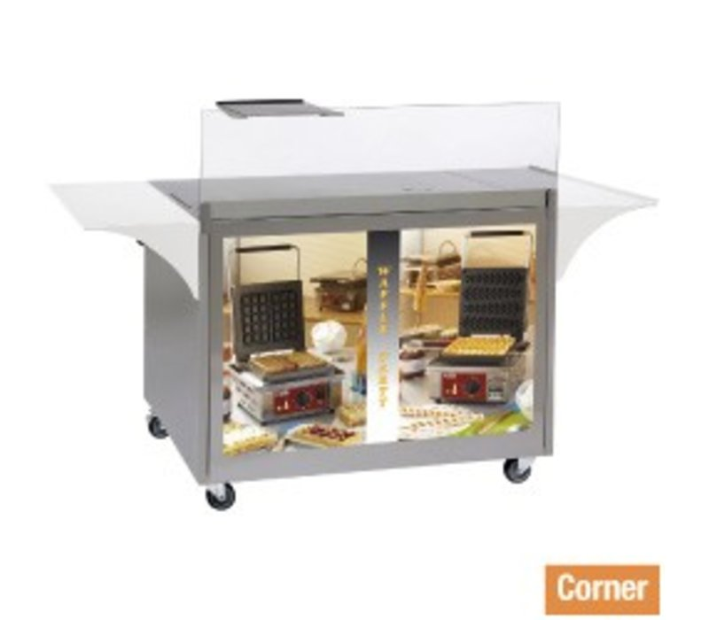 Diamond Mobile Display / Work Furniture Waffles and Crepes - 1000x600x (H) 825mm