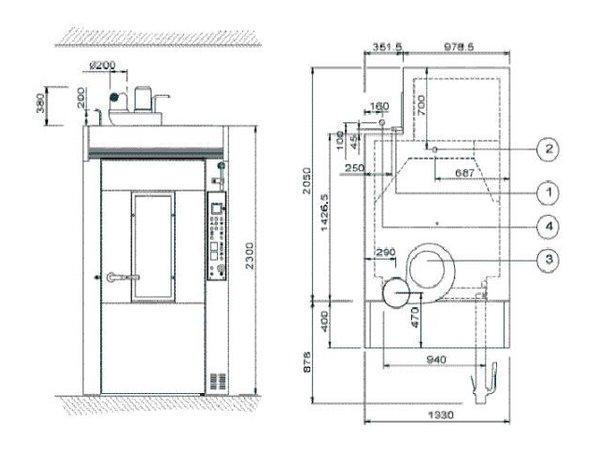 Diamond Bakery Oven - Car Oven - 60/80 levels - 400v - 135x204x (h) 254cm