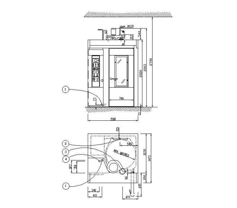 Diamond Bäckerei Backofen - Auto-Backofen - 15/18 Ebenen - 400v - 152x121x (h) 224cm