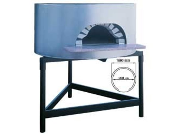 Diamond Pizza Houtoven - 1450mm - 8/10 pizzas Ø 300mm - Ø 1680x(h)1050mm