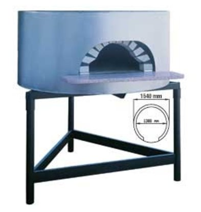 Diamond Pizza Houtoven - 1300mm - 6/7 pizzas Ø 300mm - Ø 1540x(h)1050mm