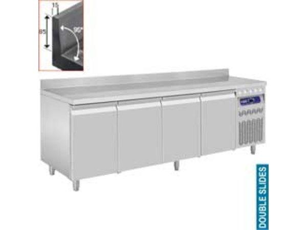 Diamond Cool Workbench with Splash Ridge - 4 Doors - 219x70x (h) 85 / 90cm - 550 Liter - DELUXE
