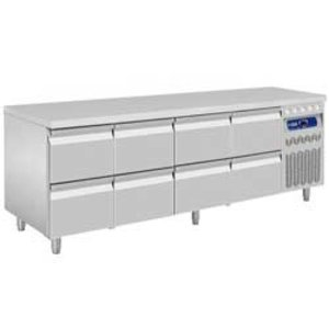 Diamond Cool Workbench - 8 drawers - 219x70x (h) 85 / 90cm - 550 Liter - DELUXE