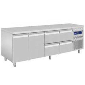 Diamond Cool Workbench - 4 drawers 2 Doors - 219x70x (h) 85 / 90cm - 550 Liter - DELUXE