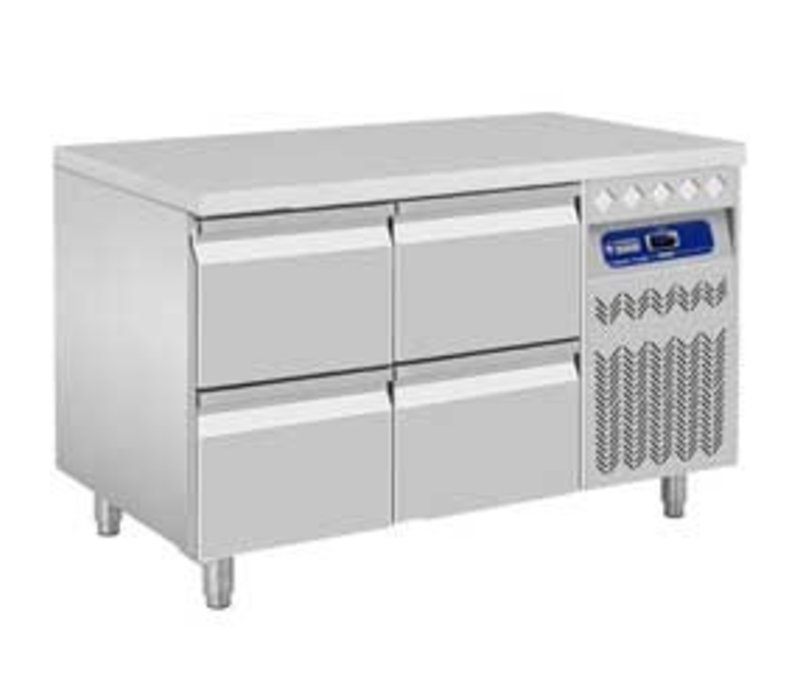 Diamond Cool Workbench - 4 drawers - 260 Liter - 132x70x (h) 85 / 90cm - European