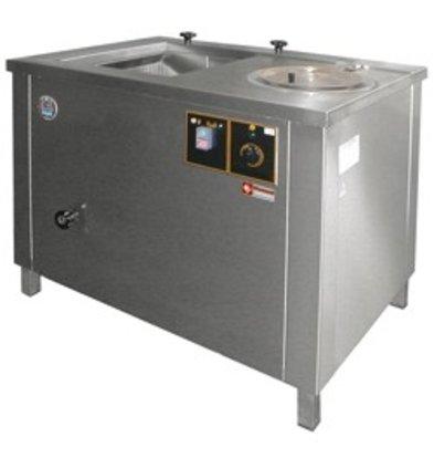 Diamond Gemüse Wasser / Centrifuge - 100 Liter - Edelstahl - 1000x700x (H) 800 mm