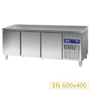Diamond Cool Workbench 80 cm deep - Stainless Steel - 3 door - 2017x80x (h) 90cm - 530 liter