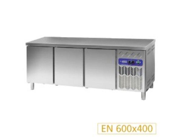 Diamond Koelwerkbank 80 cm diep - RVS - 3 deurs - 2017x80x(h)90cm - 530 liter